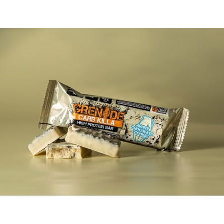 GRENADE CARB KILLA ΜΠΑΡA ΠΡΩΤΕΙΝΗΣ WHITE CHOCOLATE COOKIE 60g
