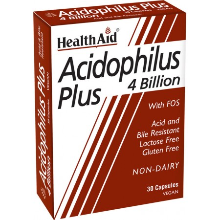HEALTH AID ACIDOPHILUS PLUS 30caps