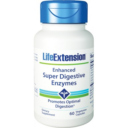 LIFE EXTENSION SUPER DIGESTIVE ENZYMES  60 VEG CAPS