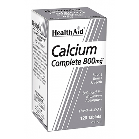 HEALTH AID BALANCED CALCIUM COMPLETE 800MG 120TABS