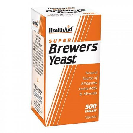 HEALTH AID SUPER BREWERS YEAST 500TABS