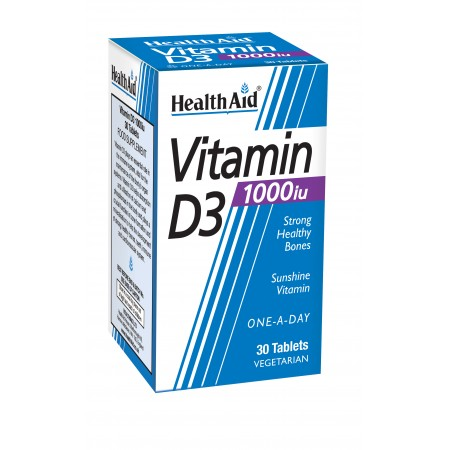HEALTH AID VITAMIN D3 1000i.u. 30's