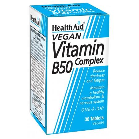 HEALTH AID STRONG B50 COMPLEX PR 30 TABS