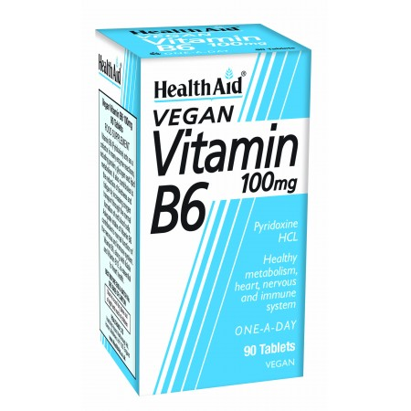 HEALTH AID VIT B6 100MG PR 90 TABS