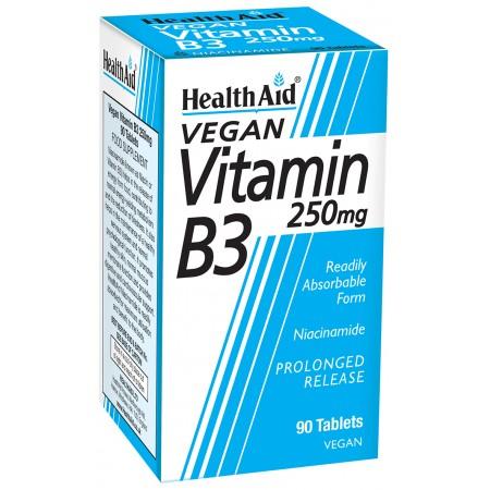 HEALTH AID VITAMIN B3 (NIACIN) 250MG TAB 90'S