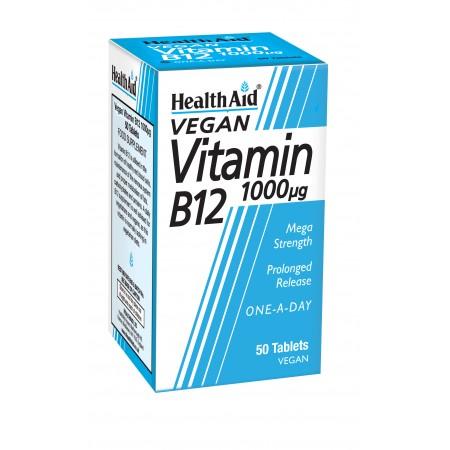 HEALTH AID VIT B12 50 TABS