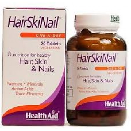 HEALTH AID HAIR, SKIN & NAIL FORMULA 30CAPS