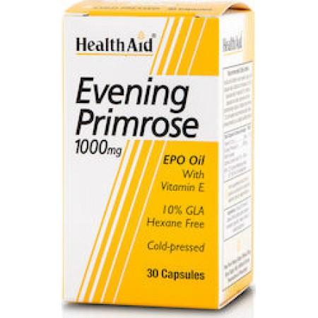 HEALTH AID EVENING PRIMROSE OIL 1000MG + VITAMIN E 30CAPS
