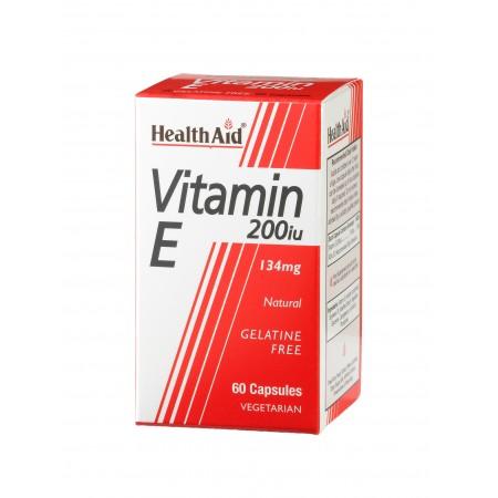 HEALTH AID VIT E 200IU 60CAPS