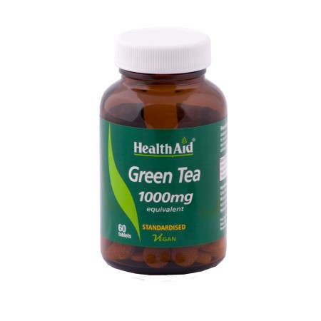 HEALTH AID GREEN TEA EXTRACT 100MG 60TABS