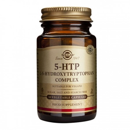 SOLGAR 5-HTP (HYDROXYTRYPTOPHAN) 100MG VEG.CAPS 30S