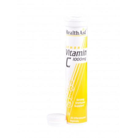 HEALTH AID VITAMIN C 1000MG - LEMON 20TABS