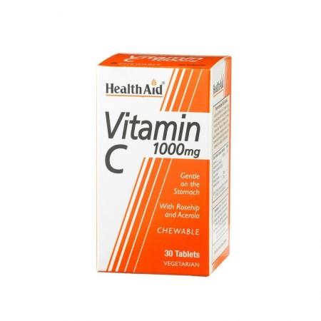 HEALTH AID VIT C 1000MG CHEWABLE ROSEHIP 30TABS