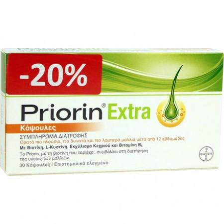 PRIORIN 30 ΚΑΨΟΥΛΕΣ PRIORIN EXTRA  -20%