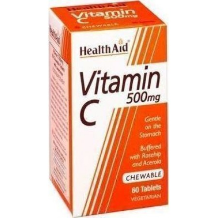 HEALTH AID VIT C 500MG ROSEHIP CHEWABLE 60TABS
