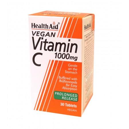 HEALTH AID VIT C 1000MG PR BIOFLAV 30TABS