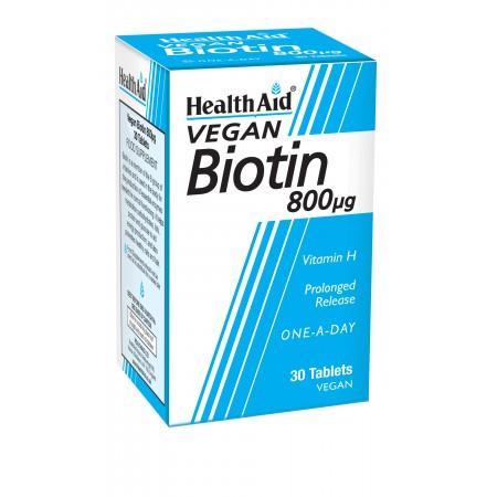 HEALTH AID BIOTIN 800μg 30TABS