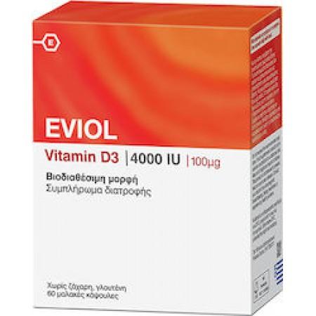 EVIOL VITAMIN D3 4000IU x 60