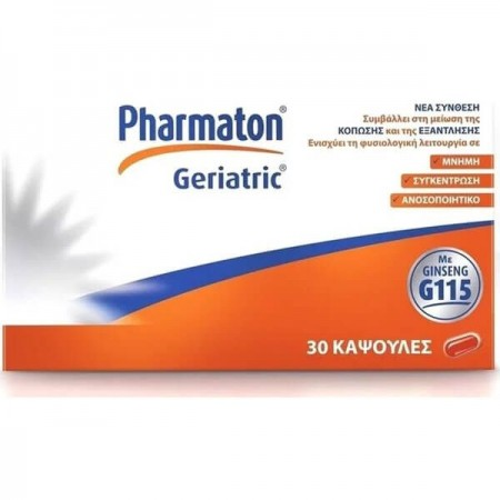 PHARMATON GERIATRIC 30CAPS