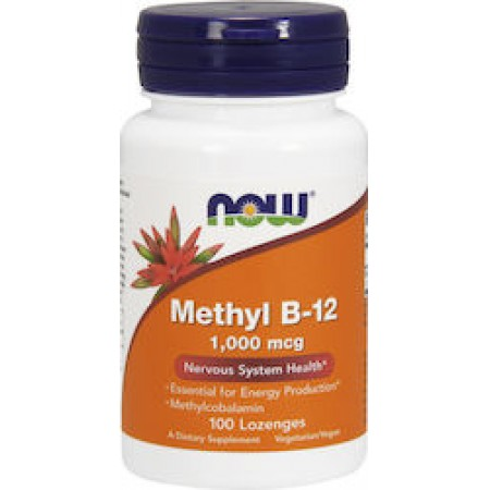 NOW METHYL B-12 1000 MCG METHYLCOBALAMIN 100 LOZ