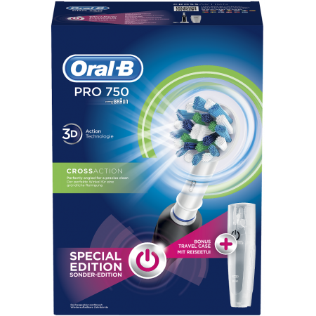 ORAL-B PRO 750 BLACK ΘΗΚΗ ΤΑΞ. BOX 1X1