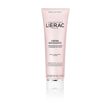 LIERAC DEMAQUILLANT CREME MOUSSANTE TUBE 150ML