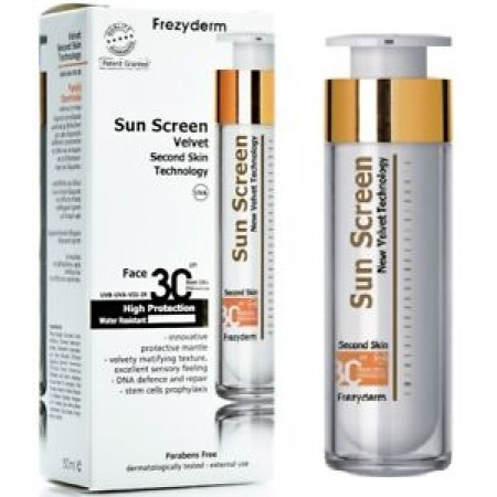 FREZYDERM SUN SCREEN SECOND SKIN FACE 30+ 50ml