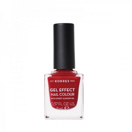 KORRES SWEET ALMOND NAIL COLOUR 56 CELEBR RED 11ML