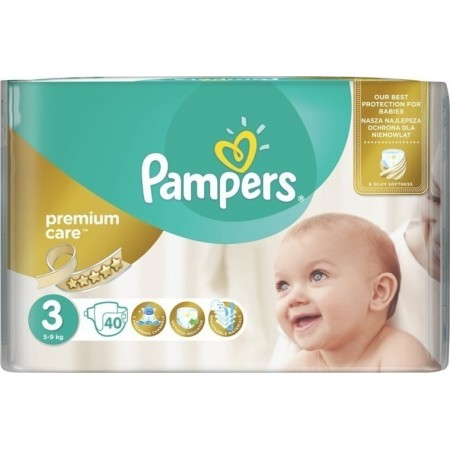 PAMPERS PREMIUM CARE Νο 3 (6-10kg) 60 τμχ