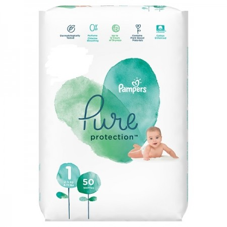 PAMPERS PURE ΜΕΓ 1 2Χ50 VP