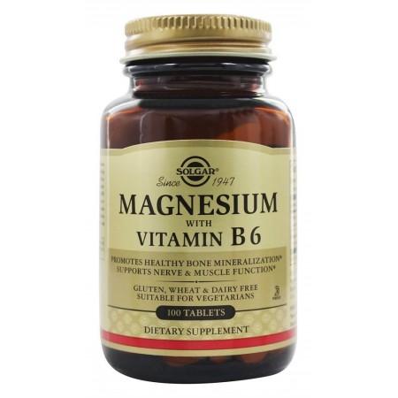 SOLGAR MAGNESIUM + B-6 TABS 100S