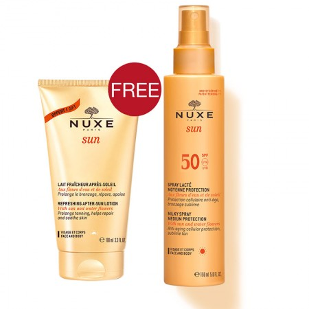 PNUXE SUN MILKY SPRAY SPF50 150ML+ AFTER SUN 100ML