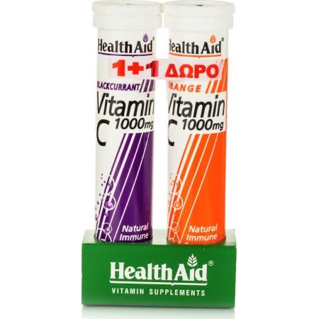 HEALTH AID VIT-C 1GR ΑΝΑΒΡ.ΦΡΑΓΚ/ΛΟ 20S +C1000MG
