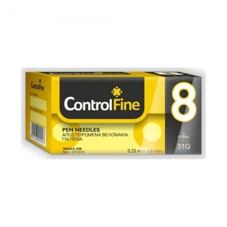CONTROL FINE  PEN NEEDLES 8 MM  31G  100 PCS