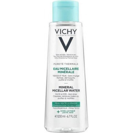 VICHY PUR. THERMAL MICEL WATER OILY 200ML