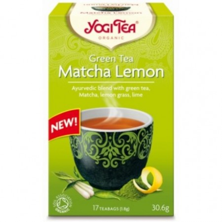 ΒΙΟ-ΥΓΕΙΑ YOGI TEA GREEN TEA MATCHA LEMON X17 TEA BAGS 30,6g