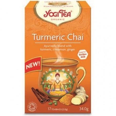 ΒΙΟ-ΥΓΕΙΑ YOGI TEA TURMERIC CHAI X17 TEA BAGS 34,0g
