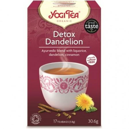 ΒΙΟ-ΥΓΕΙΑ YOGI TEA DETOX DADNELION X17 TEA BAGS 30,6g