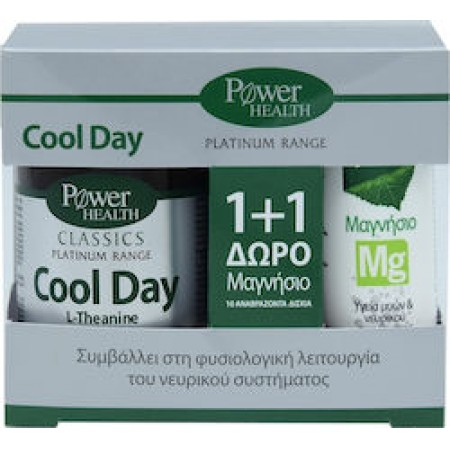 PPOWER HEALTH PLATINUM COOL DAY 30S TABS + ΔΩΡΟ MAGNES 10S