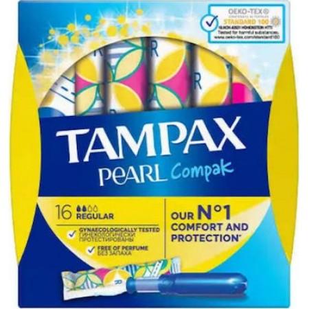TAMPAX COMPAK PEARL REGULAR 8X16