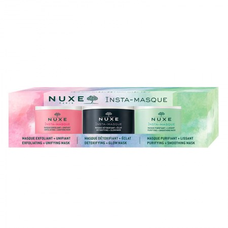 PNUXE TΡΙΠΛΕΤΑ FACE MASKS  3X15ML (DETOXIF-EXFOLIAT- PUR)