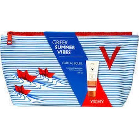 Vichy Greek Summer Vibes Capital Soleil Anti-ageing SPF50+ & Νεσεσέρ