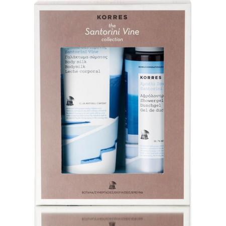Korres Set Αμπέλι Σαντορίνης Αφρόλουτρο & Κρέμα Σώματος
