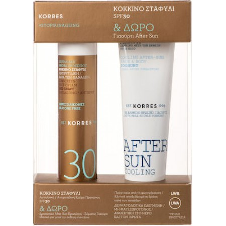 PKORRES RED GRAPE ΚΟΚΚ ΣΤ SPF30-50ML&COOL GEL 50ML