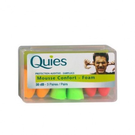 QUIES EARPLUGS SILICONE WPECIAL SWIMMING 3PAIRS