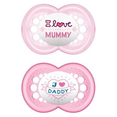 Ι LOVE MUMMY & DADDY X2 ΣΙΛ 6+ (ΡΟΖ MUMMY- DADDY)