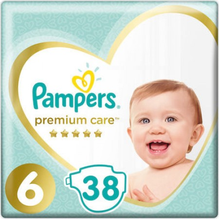 PAMPERS PREMIUM CARE No 6 (13+kg) 38 τμχ