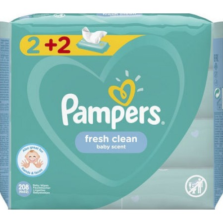 PAMPERS WIPES FRESH 4X52 (2+2)
