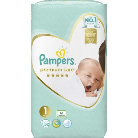 PAMPERS PREMIUM CARE NEWBORN Nr 1 (2-5kg) 52 τμχ