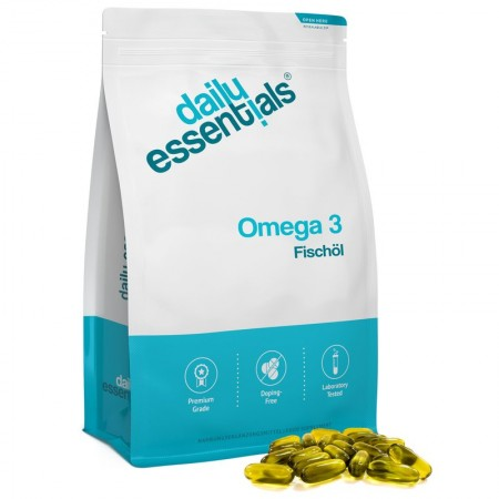 DAILY ESSENTIALS OMEGA 3 FISHOIL 1000MG X500 CAPS